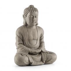 SIDDHARTHA , STATUIE, 60 CM, CIMENT, ASPECT NATURAL