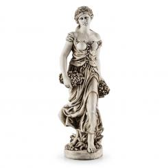 CERES, STATUIE SCULPTATA MANUAL , 1,2 M, CIMENT, ASPECT NATURAL