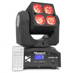 MATRIX 22, 40 W, cap rotativ cu LED, cap rotativ, MOVING-HEAD, 4 X 10 W, 9 design, 7 culori, DMX
