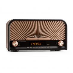 GLASTONBURY, dispozitiv stereo retro, dab + fm, bluetooth, cd, mp3, player