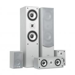SURROUND, difuzoare, set, home cinema, 335 W, rms, culoare argintie