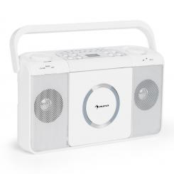 BOOMTOWN USB, boombox, cd player, radio fm, mp3, radio portabil, alb Alb