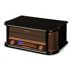 Belle Epoque 1908, retro stereo systém, gramofon, rádio, USB, CD, MP3, mikrosystém