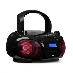 Roadie DAB, CD player, DAB / DAB +, FM, LED disko-svjetlosni efekt , bluetooth, crna boja Crna