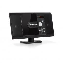 MCD-82 BT, Вертикална стерео система, DVD/CD/Bluetooth/USB/SD/FM, HDMI, черна Черно