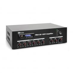 PBA120, 100 V zosilňovač, 120 W, USB/SD, MP3, bluetooth