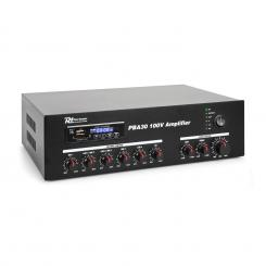 PBA30, 100 V zosilňovač, 30 W, USB/SD, MP3, bluetooth 30 W
