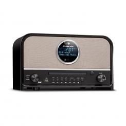 Columbia, DAB radio, 60 W maks., CD, DAB+/FM tuner, BT, MP3, USB, crna