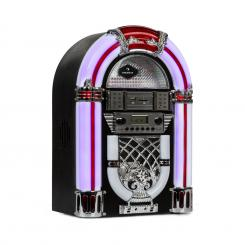 Arizona, jukebox, BT, FM radio, USB, SD, MP3, CD player, crni