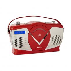 RCD-70 DAB, radio retro CD, FM, DAB+, CD Player, USB, bluetooth, roșu Roșu