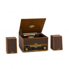 Belle Epoque 1910, gramofon, difuzor stereo, turntable stereo, CD player