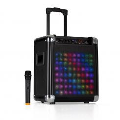 "Moving 80.2 LED, PA-sistem, 8"" woofer, 100 W max., VHF-mikrofon, USB, SD, BT, AUX, prenosen"