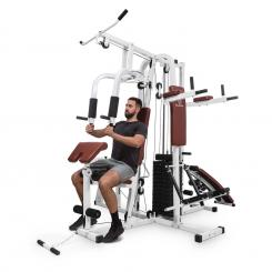 Ultimate Gym 9000, 7 postaj, do 150 kg, QR jeklo, bela Bela