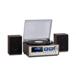 Oxford, retro stereo sistem, DAB+/FM radio, BT funkcija, vinil, CD, AUX, temno siva  dark_grey