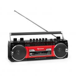 Duke MKII kasetofon, Radio BT USB SD, teleskopska antena, crveni Black_red