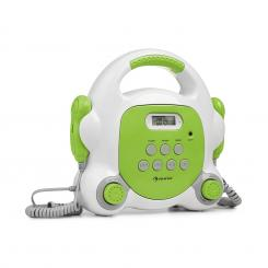 Pocket Rocker BT, karaoke player, BT, USB-port, MP3, 2x microfon, verde Verde