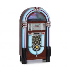 Graceland DAB, jukebox, BT, CD, vinyl, DAB+/FM, USB, SD, AUX vstup, LED světlo