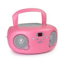 Pink Bonbon CD Boombox, CD player, bluetooth, FM, AUX-IN, display LED, roz Roz