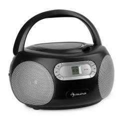 Haddaway, CD boombox, CD player, bluetooth, FM, AUX ulaz, LED zaslon, crni Crna