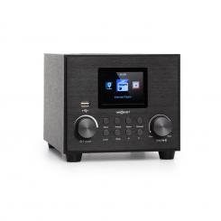 Streamo Cube, internet radio, 3 W & 5 W RMS, WLAN, BT, crni Crna