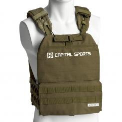 Battlevest 2.0, vestă cu greutăți, 2 x 2 greutăți 2,6 și 4,0 kg, verde Olive_green | 4_weight_plates_included