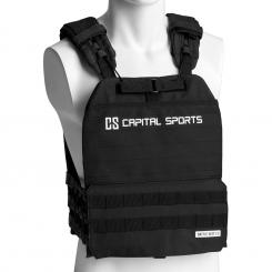Battlevest 2.0, súlymellény, 2 x 4,0 kg súly, fekete Fekete | 2_weight_plates_included