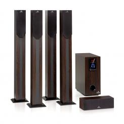 Areal Elegance, sistem de canale 5.1, 190 W, RMS, BT, USB, SD, AUX maro inchis