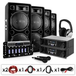 Bass First Pro, DJ PA set, 2 x amplificator, 4 x difuzor, mixer, 4 x 500 W