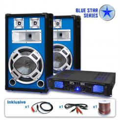 "Set PA Blue Star Seria ""Bass kick"" 1600W 1"