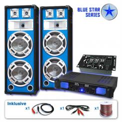 "Set PA Seria Blue Star ""Bassveteran USB"" 1200 W"