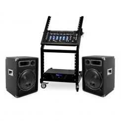 DJ reproduktorový set Rack Star Series Mercury Beat 250 ľudí