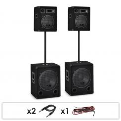 2.2 DUAL LEVEL PASIVNI PA 2X 1000W WOOFER I 2X 400W