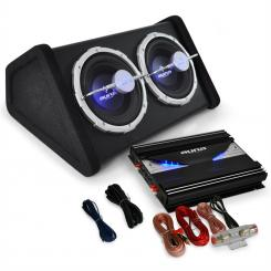 "Set HIFI auto ""Black Line 140"" amplificator subwoofer"