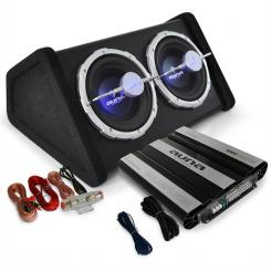 "Set HIFI auto ""Black Line 160"" amplificator subwoofer"