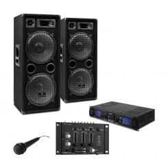 "SET PA DJ ""DJ-27""- AmplificatorBoxe PA 2000W USB SD MP3"