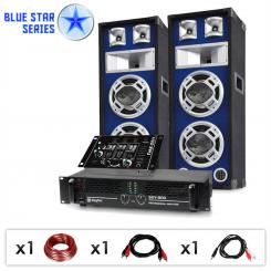 "Blue Star Series ""Beatmix"" DJ PA szett, 1200 W"