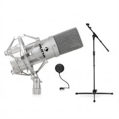 Set mikrofon, stojalo, mikrofon in Pop filter