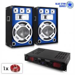 "DJ PA Set Blue Star ""Bluetooth 700W Amp & Speaker"