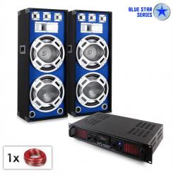 "DJ PA Set Blue Star ""Bluetooth 1500W Amp & Speaker"