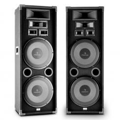 "PA-2200 set de 2-game complete HiFi PA Speaker 2x12 ""Woofer 2000W max."
