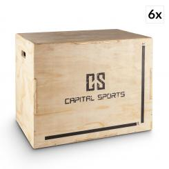 "Shineater BL Set Plyo Box Salt Box 3 inaltimi de 20 ""24"" 30 cherestea """