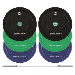 Nipton Mens Set II Olympic Bar 3 Perechi 5, 10 & 20 kg