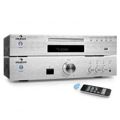 """ELEGANCE TOWER BLUETOOTH"", argintiu, 2.0 kituri HIFI, CD-PLAYER MP3 + AMPLIFICATOR 600 W"