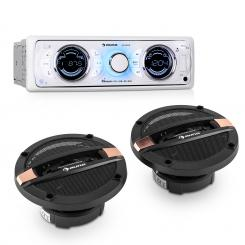 MD-170-BT Car-Hifi-Set autorádio +4-cestný autoreproduktor MP3 USB SD BT