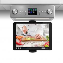 "Connect Soundchef, kuhinjski radio s držačem za tablet, DAB +, FM, 2x3"", bijela boja Bijela 
