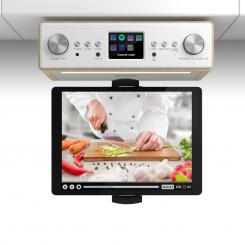 "Connect Soundchef, kuchyňské rádio s držákem na tablet, set, DAB +, FM, 2x3 "", buk Beech 