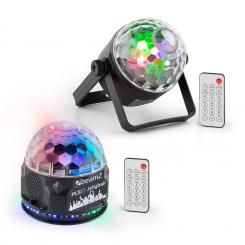 PLS35, комплект V2, Jellyball, 4 x 3 W LED диоди, PLS15 LED стробоскоп