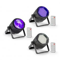 PLS30, Set V3, Jellyball, 10 W, 4 în 1, RGBW LED, PLS15  Stroboscop cu LED-uri, LED reflector PLS20