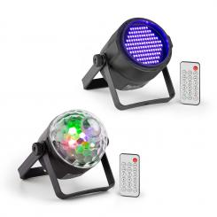PLS35, set V5 Jellyball, 4 x 3 W LED, UV Par LED reflektor, PLS20 Blacklight