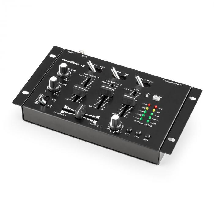 TMX - 2211 3/2 canale DJ mixer, talkover party
